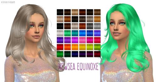 Sims 4 Newseas Equinoxe hair retexture at Nessa Sims