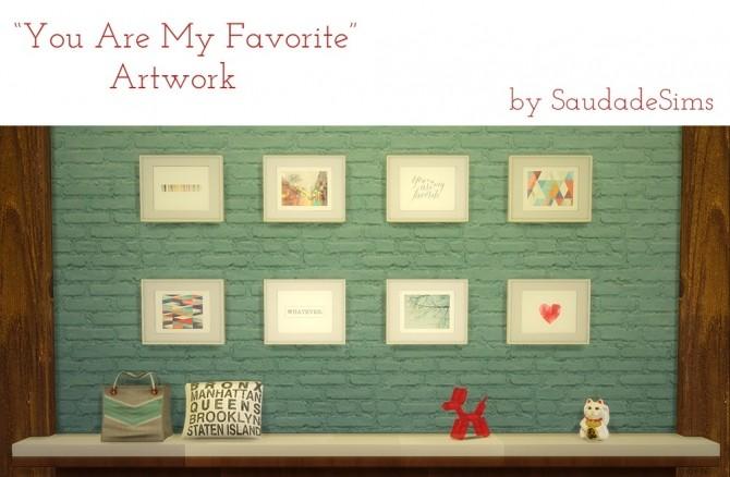 Sims 4 Artwork at Saudade Sims