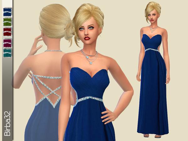Sims 4 My heart dress by Birba32 at TSR