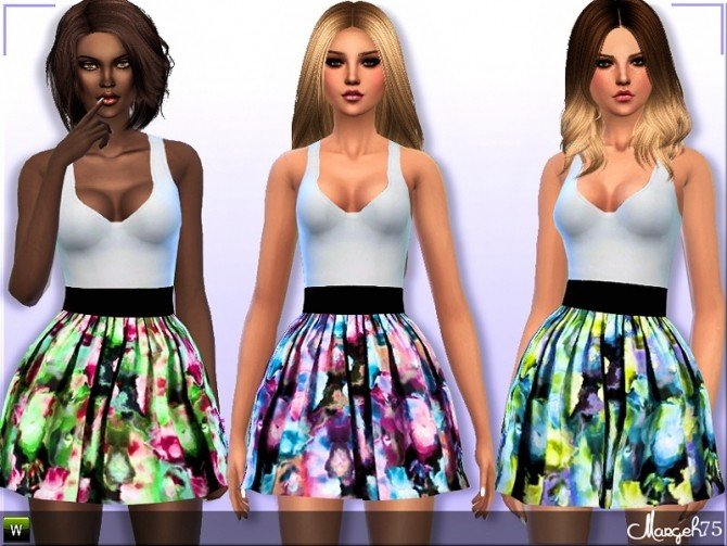 Sims 4 Sweetness Dress by Margie at Sims Addictions
