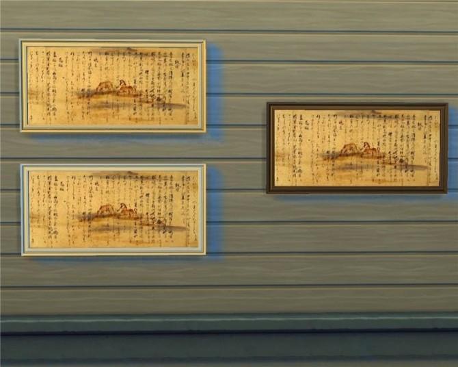 Japanese paintings at Mara45123 image 642 670x536 Sims 4 Updates