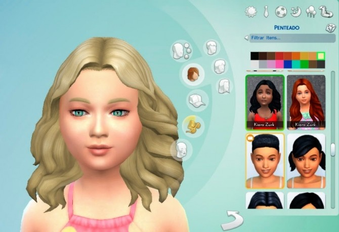 Sims 4 Passion Hair for Girls at My Stuff