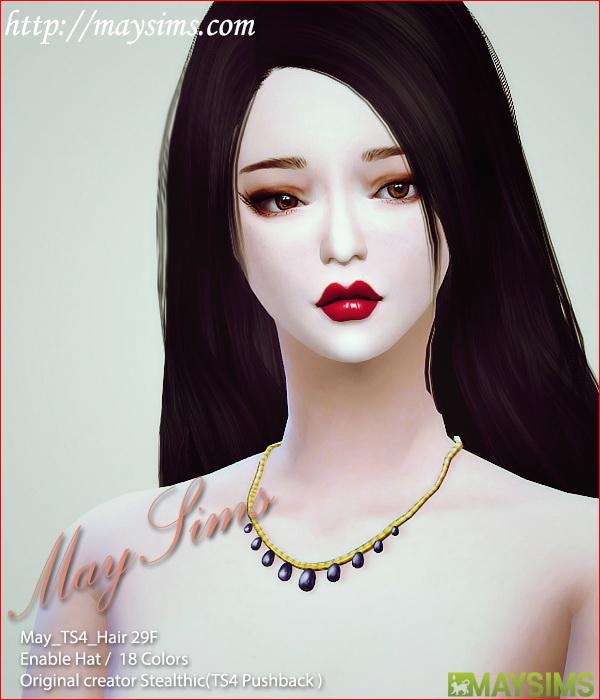 Sims 4 Hair 29F (Stealthic Mesh edit) at May Sims