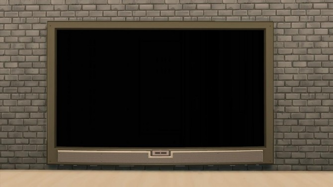 Sims 4 TS3 4x1 Wall Show Television by AdonisPluto at Mod The Sims