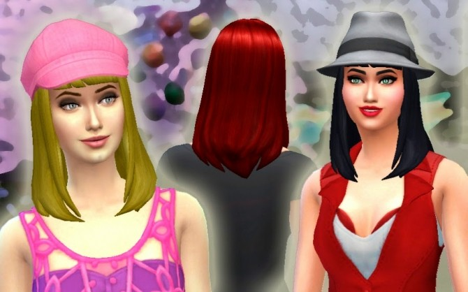 Sims 4 Katy Perry Sweet World Hair + Acessory at My Stuff