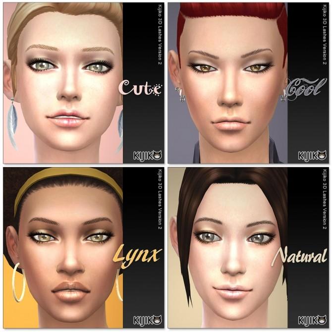 3D Lashes Version2 by Mia at Kijiko image 707 670x670 Sims 4 Updates