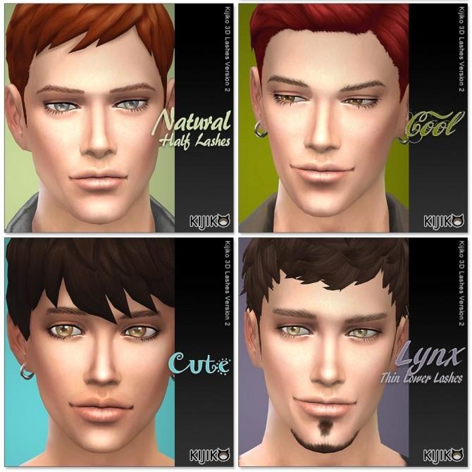 Sims 4 3D Lashes Version2 by Mia at Kijiko