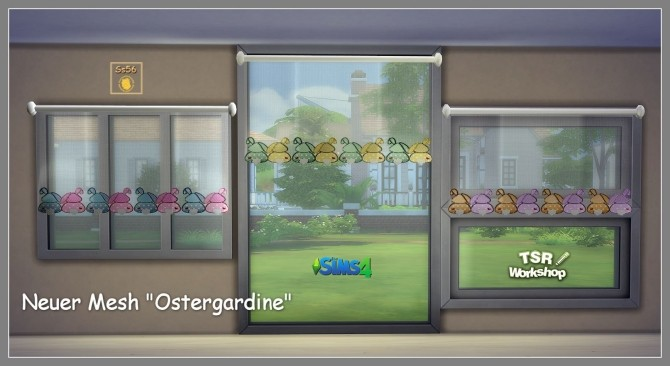 Curtains with Easter motif by Sonnenschein56 at Sims Marktplatz image 715 670x366 Sims 4 Updates