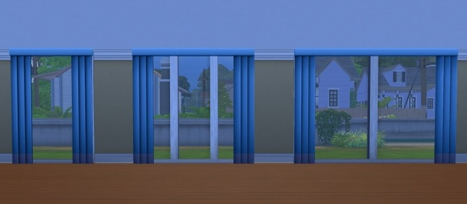 Sims 4 Larger & Taller Nouveau Riche Blinds by chaggith at Mod The Sims