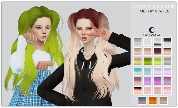 Sims 4 Parody hair recolor at Kalewa a