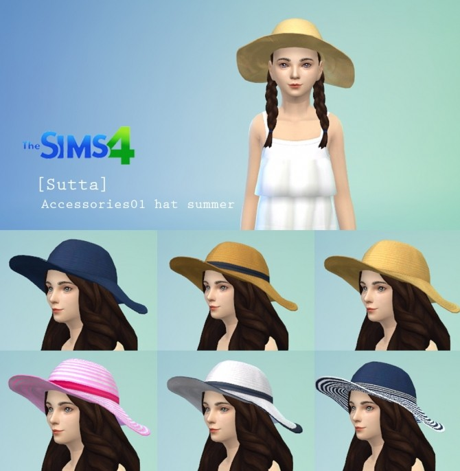 Summer Set: top, shorts, hat and sandals at Sutta Sims4 image 7516 670x686 Sims 4 Updates