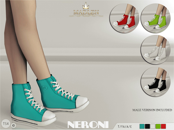 Sims 4 Madlen Neroni Sneakers by MJ95 at TSR
