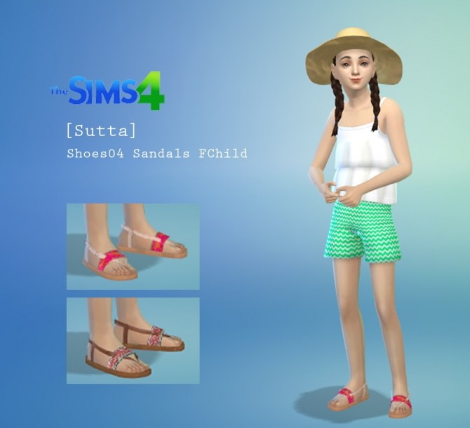 Summer Set: top, shorts, hat and sandals at Sutta Sims4 image 7615 670x610 Sims 4 Updates