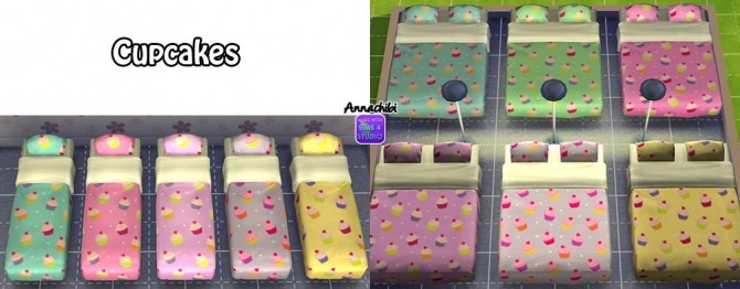 Sims 4 Mattress Recolors at Annachibis Sims