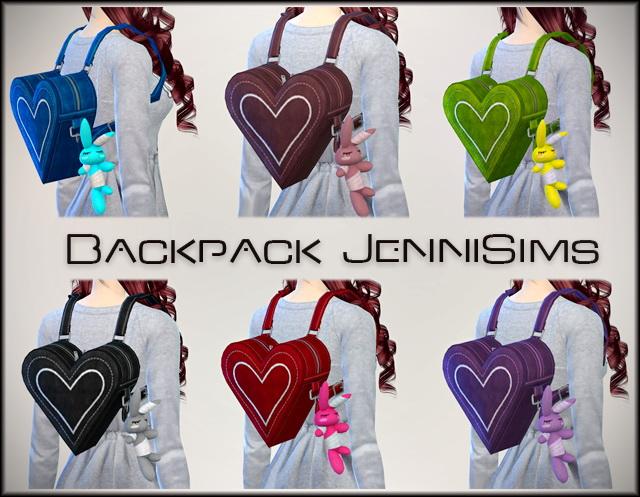 Heart backpack at Jenni Sims image 7710 Sims 4 Updates