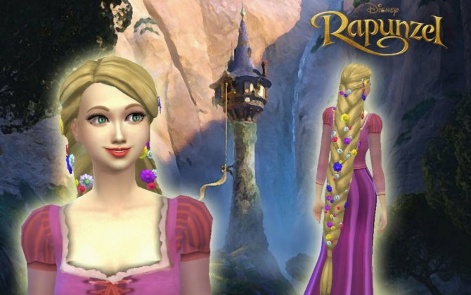Rapunzel Braid By Kiara At My Stuff 187 Sims 4 Updates