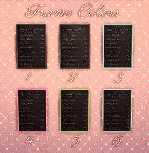 Chalkboard Cupcake Shop Menus at NotEgain image 7810 Sims 4 Updates