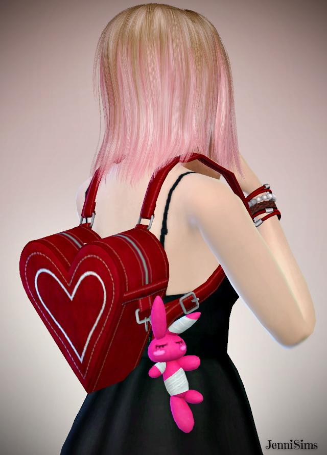 Heart backpack at Jenni Sims image 789 Sims 4 Updates