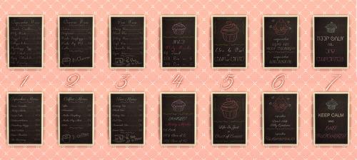 Chalkboard Cupcake Shop Menus at NotEgain image 7910 Sims 4 Updates