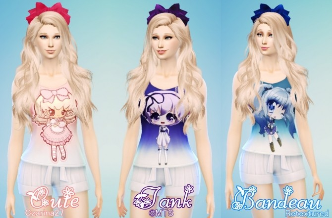 Cute Tank Bandeau by Czarina27 at Mod The Sims image 7917 670x441 Sims 4 Updates