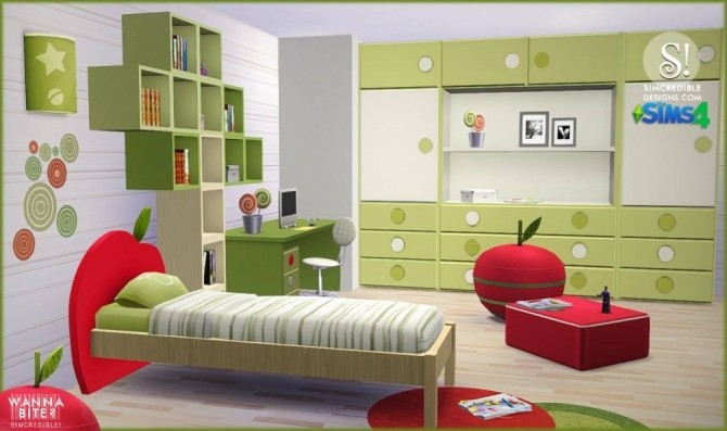 Wanna Bite? kids room at SIMcredible! Designs 4 image 801 670x397 Sims 4 Updates