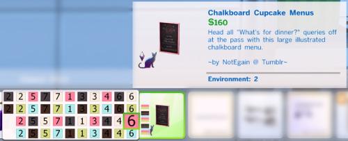Chalkboard Cupcake Shop Menus at NotEgain image 8011 Sims 4 Updates