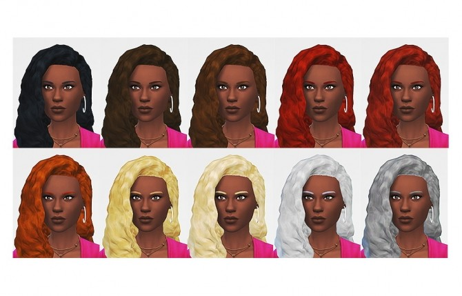 Curly Gurly hair at LumiaLover Sims image 805 670x429 Sims 4 Updates