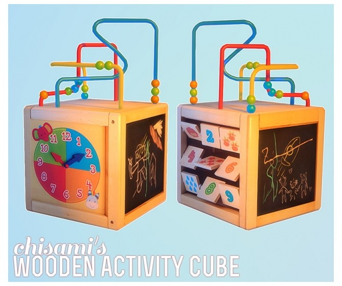 Wooden Activity Cube for kids at Chisami image 8103 670x560 Sims 4 Updates
