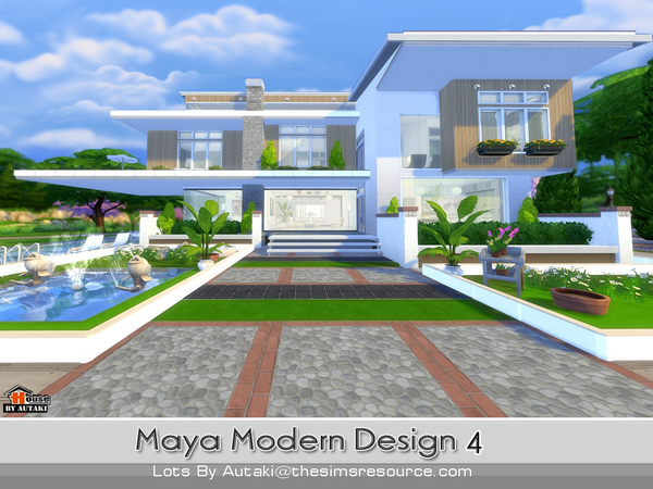 Maya Modern Design 4 House By Autaki At TSR Sims 4 Updates