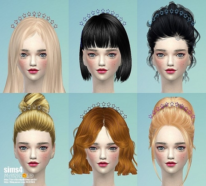 Sims 4 Star hair band at Marigold