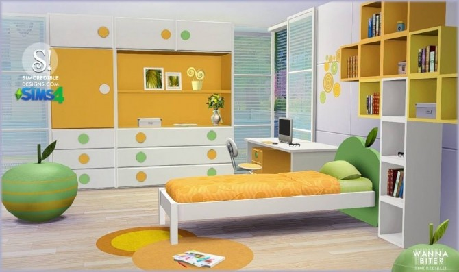 Wanna Bite Kids Room At Simcredible Designs 4 187 Sims 4
