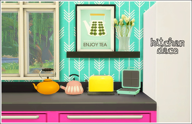Sims 4 Kitchen deco at Lina Cherie