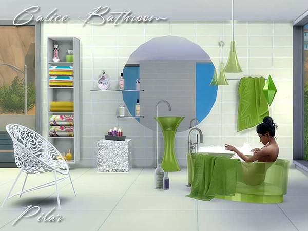 Calice bathroom by pilar at tsr sims 4 updates for Bathroom ideas sims 4