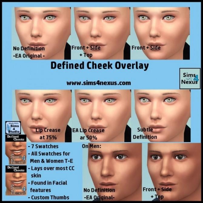 Sims 4 Defined Cheek Overlay by SamanthaGump at Sims 4 Nexus