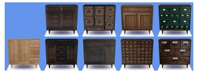 Sims 4 Salixs cabinet conversions at Chisami