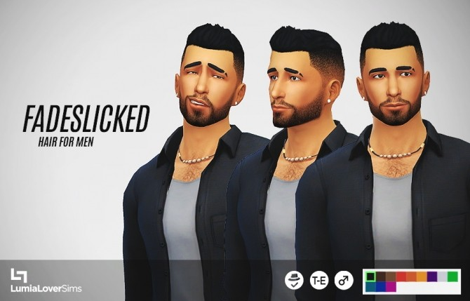 Short spikey hair with faded sides at LumiaLover Sims image 8417 670x429 Sims 4 Updates