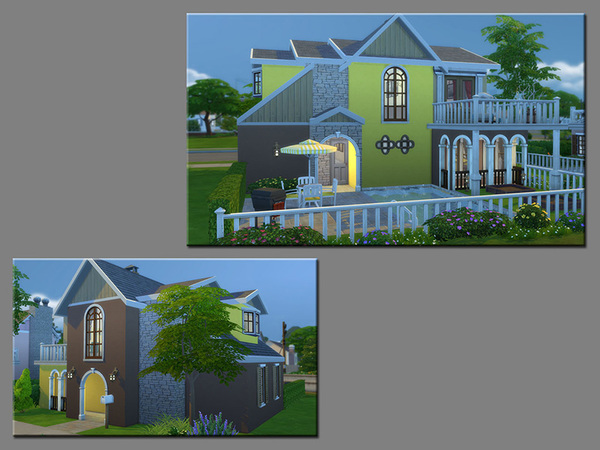 Sims 4 MB ColorTrio house by matomibotaki at TSR