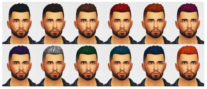 Short spikey hair with faded sides at LumiaLover Sims image 8518 670x289 Sims 4 Updates