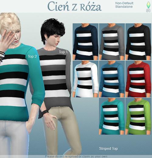 Sims 4 Boys Tops and Simple Recolors at Cień z róża
