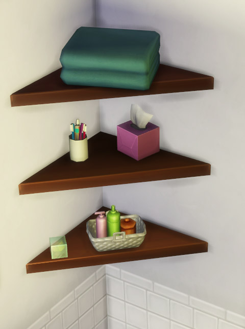 Sims 4 The Mega Minimal Corner Shelf by IgnorantBliss at Mod The Sims