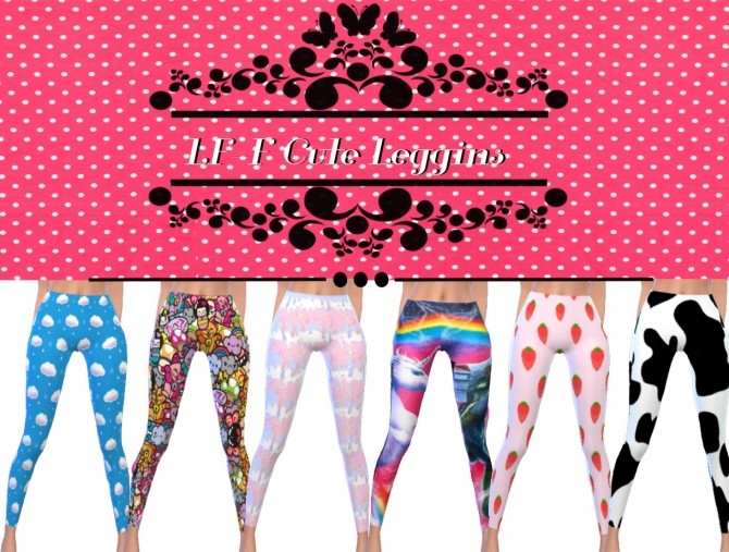 Sims 4 Cute Leggins at Lulufrosty frog