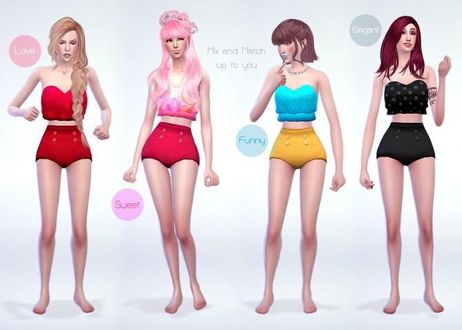 Sims 4 Wullet Style swimwear at manuea Pinny
