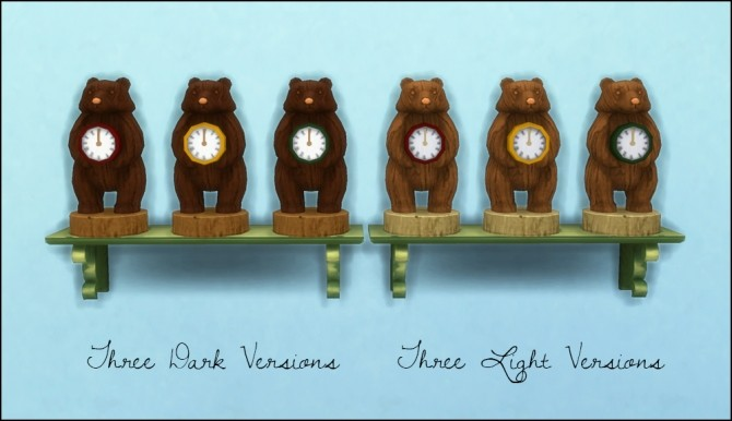Sims 4 Bear Clock recolors at Martine's Simblr