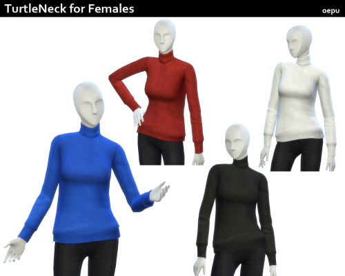 Sims 4 Turtleneck for females at Oepu Sims 4