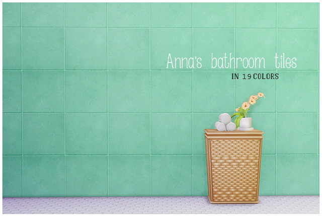 Sims 4 Anna's bathroom tiles 19 colors at Lina Cherie