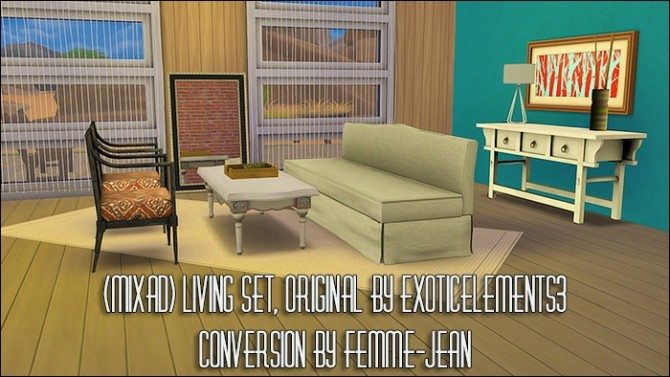 ExoticElements3s living, dining and bedroom conversions at Femme Jean image 905 670x377 Sims 4 Updates
