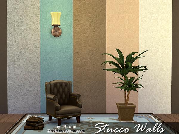 Sims 4 Stucco Walls by Rirann at TSR