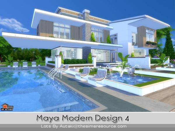 Sims 4 Maya Modern Design 4 house by autaki at TSR