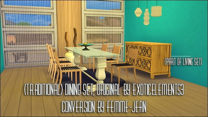 ExoticElements3s living, dining and bedroom conversions at Femme Jean image 9110 670x377 Sims 4 Updates