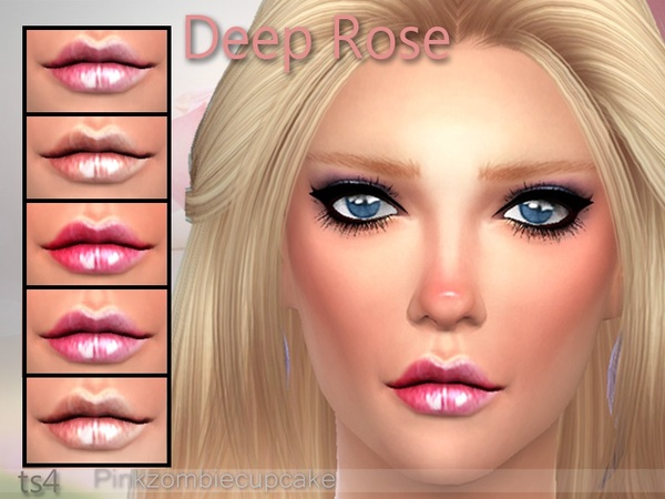 Deep Rose Lipgloss by Pinkzombiecupcakes at TSR image 915 Sims 4 Updates